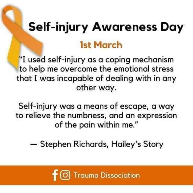 Self Harm Awareness: Self-Harm Awareness Day
